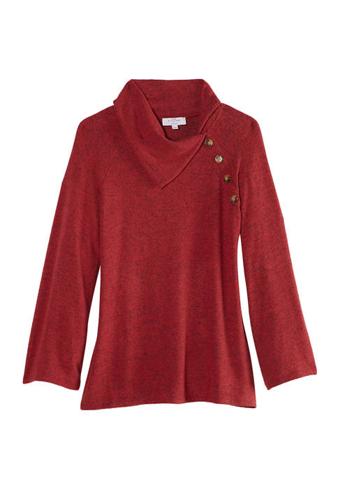 New Directions® Womens Brushed Hacci Sweater