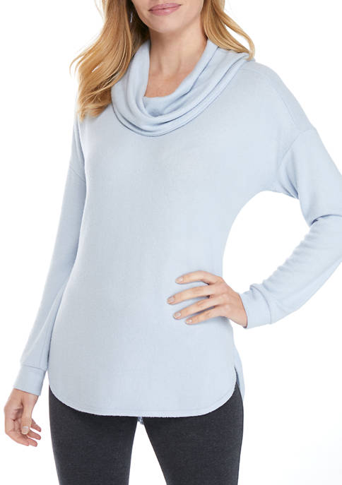 New Directions® Studio Womens Hacci Solid Cowl Neck
