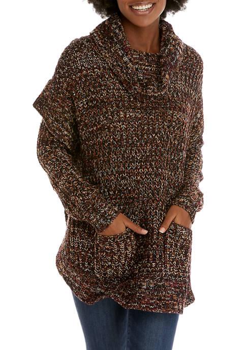 New Directions® Womens Round Hem Marled Tunic