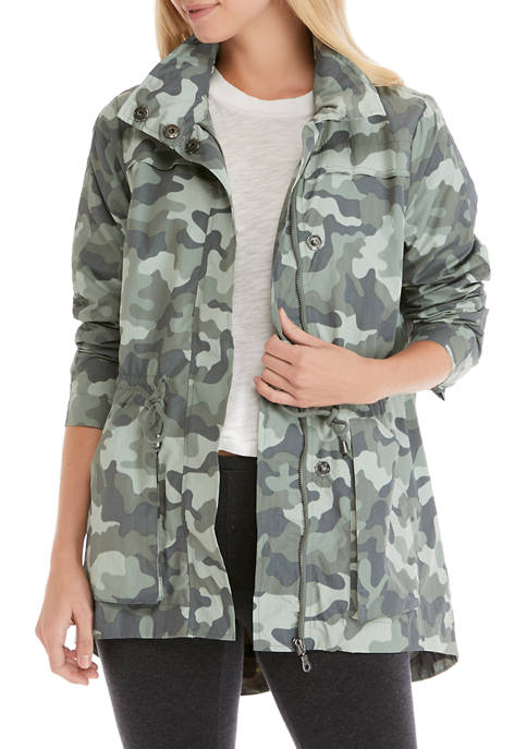 New Directions® Studio Womens Printed Anorak Jacket