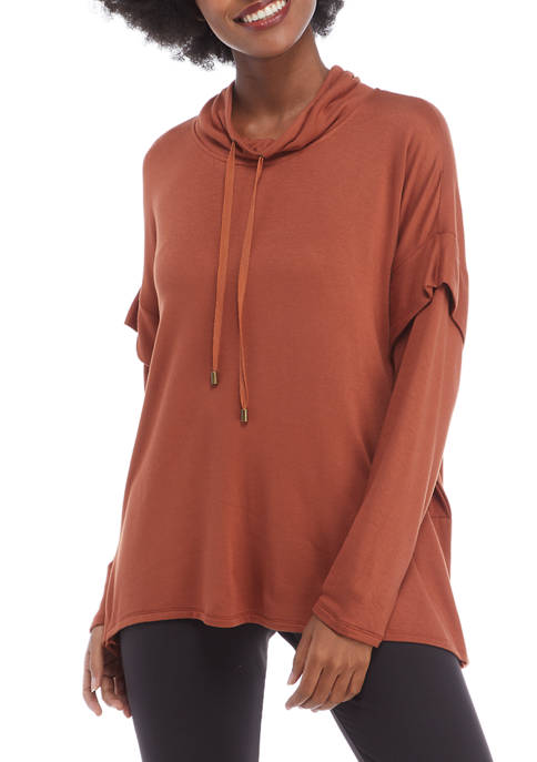 New Directions® Studio Womens Long Sleeve Cowl Neck