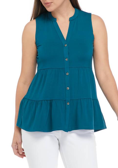 New Directions® Womens Sleeveless Julianna Crepe Tunic