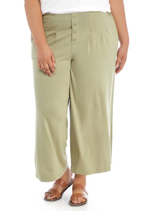 New Directions® Plus Size Julianna Crepe Wide Leg