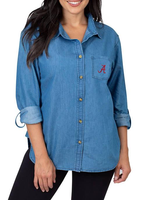 Womens NCAA Alabama Crimson Tide Denim Shirt
