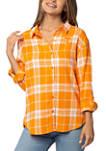 NCAA Tennessee Volunteers Boyfriend Plaid Shirt