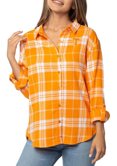 Plus Size NCAA Tennessee Volunteers Boyfriend Plaid Shirt