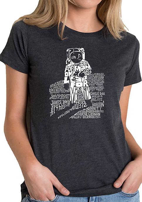 Premium Blend Word Art T-Shirt - Astronaut
