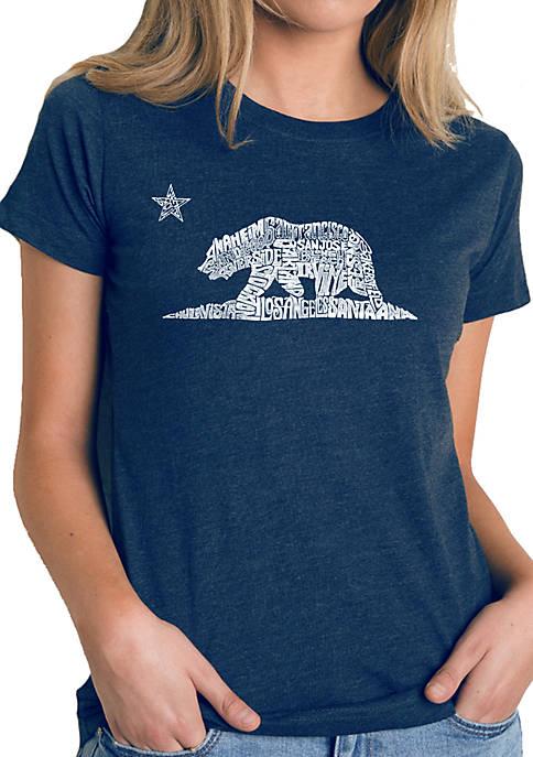 Premium Blend Word Art T-Shirt - California Bear
