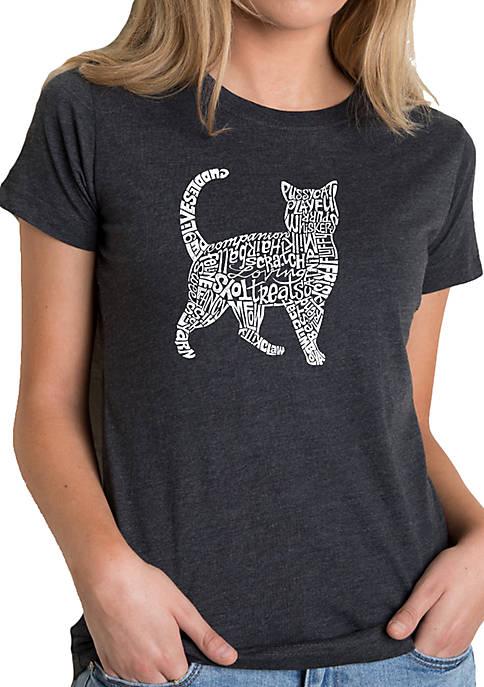 Premium Blend Word Art T-Shirt - Cat