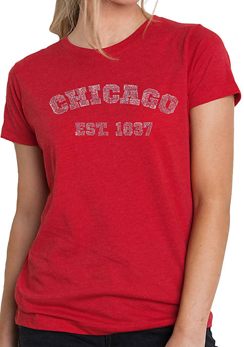 Premium Blend Word Art T-Shirt - Chicago 1837