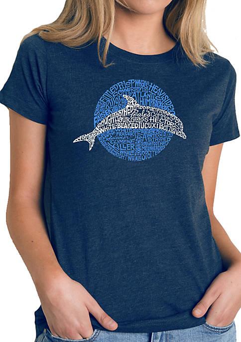 Word Art T-Shirt- Species of Dolphin