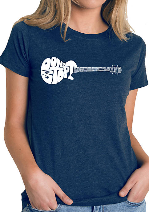 Premium Blend Word Art T-Shirt - Dont Stop Believin