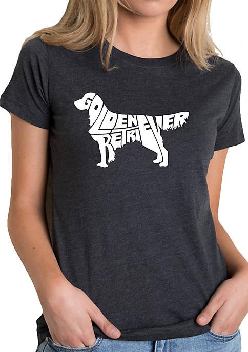 Premium Blend Word Art T-Shirt - Golden Retriever