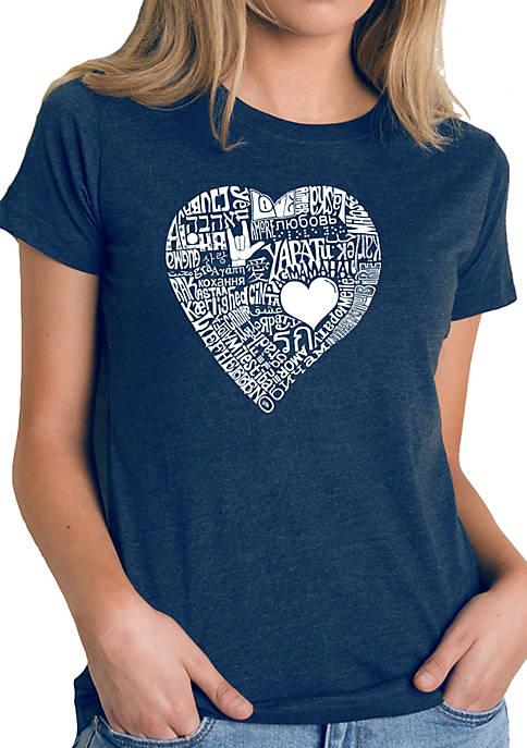 Premium Blend Word Art T-Shirt - Love in 44 Different Languages