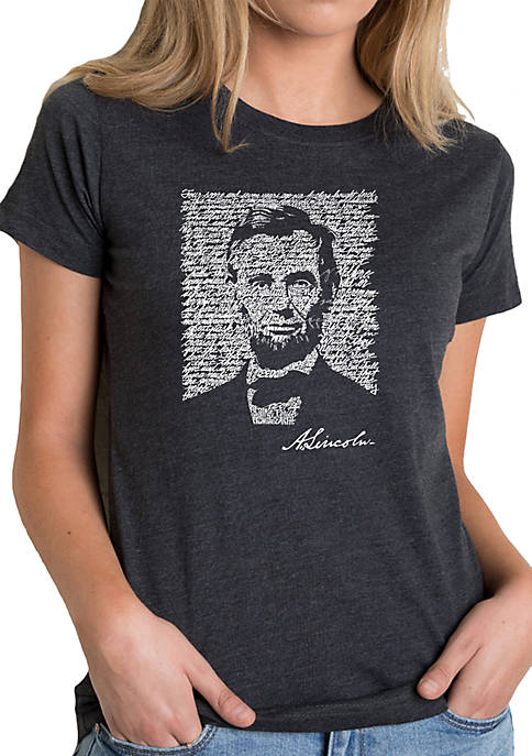 Premium Blend Word Art T-Shirt - Abraham Lincoln- Gettysburg Address