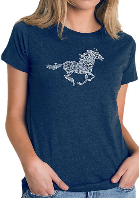 Word Art T-Shirt- Horse Breeds