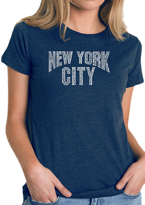 Word Art T-Shirt- NYC Neighbourhoods