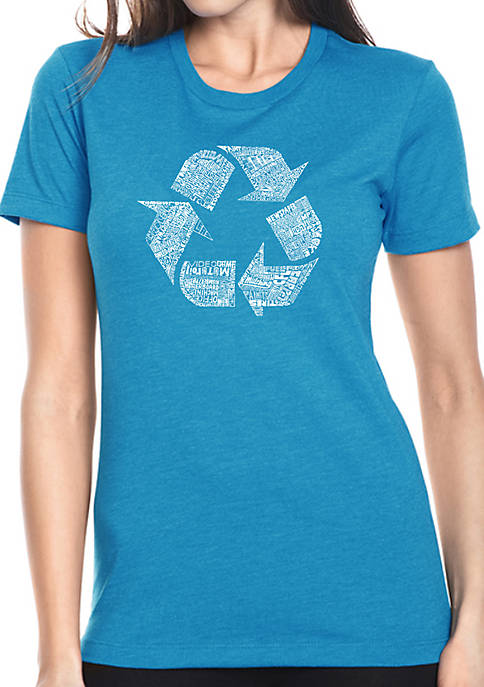 Womens Premium Blend Word Art T-Shirt- 86 Recyclable Products