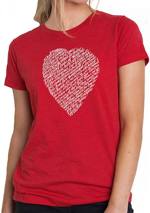 LA Pop Art Womens Word Art T-Shirt