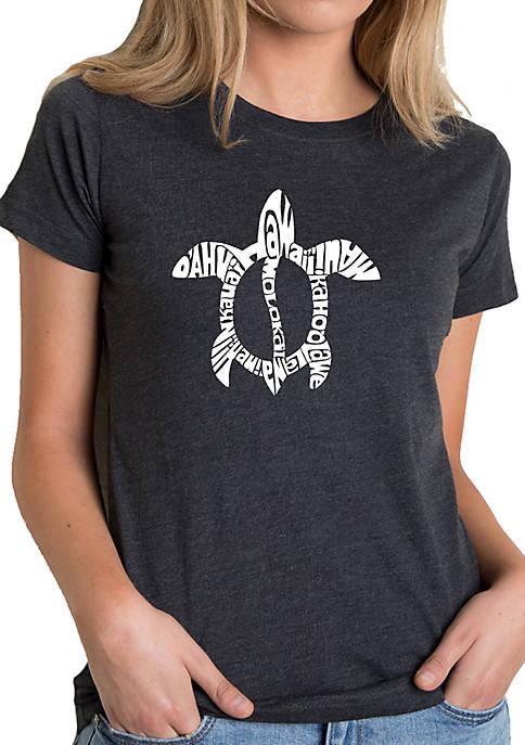 Womens Premium Blend Word Art T-Shirt- Hawaiian Islands
