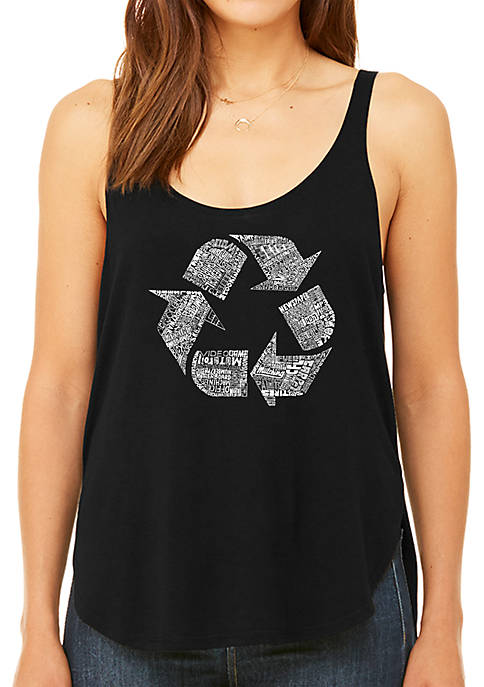Premium Word Art Flowy Tank Top- 86 Recyclable Products