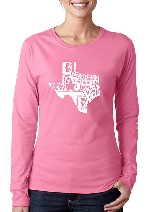 Word Art T Shirt -- Everything is Bigger in Texas