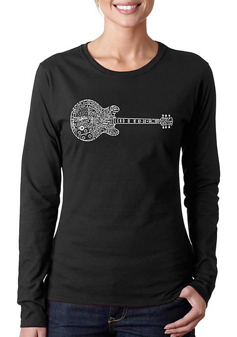 Word Art Long Sleeve T-Shirt - Blues Legends