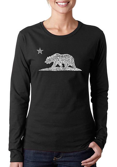 Word Art Long Sleeve T-Shirt - California Bear
