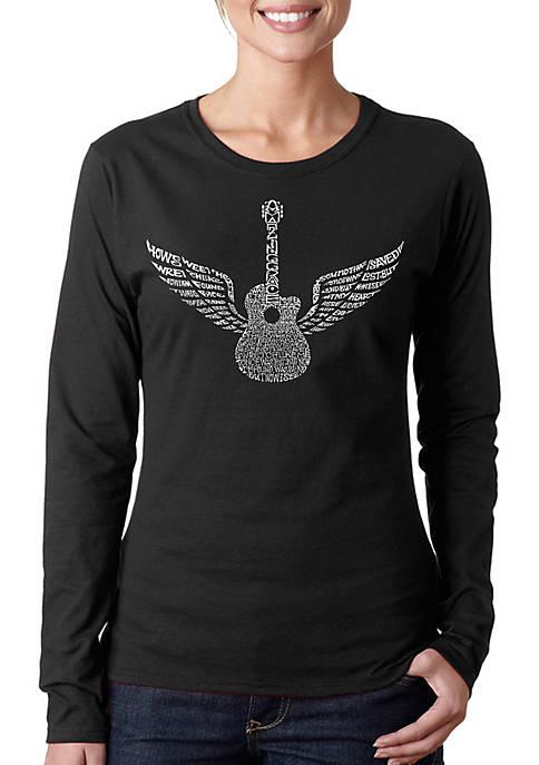 Word Art Long Sleeve T-Shirt - Amazing Grace