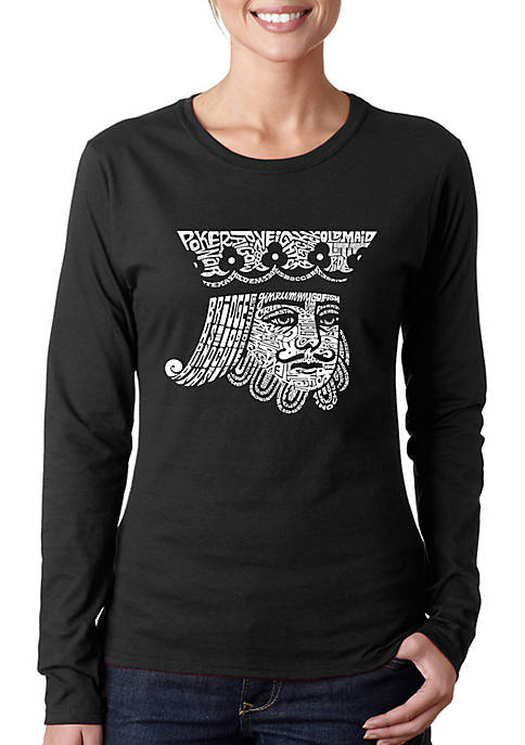 Word Art Long Sleeve T-Shirt - King of Spades
