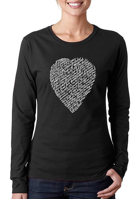 Word Art Long Sleeve T-Shirt - William Shakespeares Sonnet 18