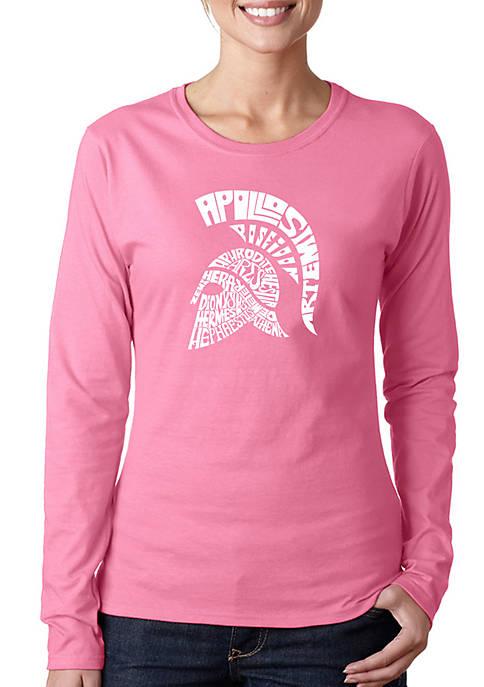 Word Art Long Sleeve T-Shirt - Spartan