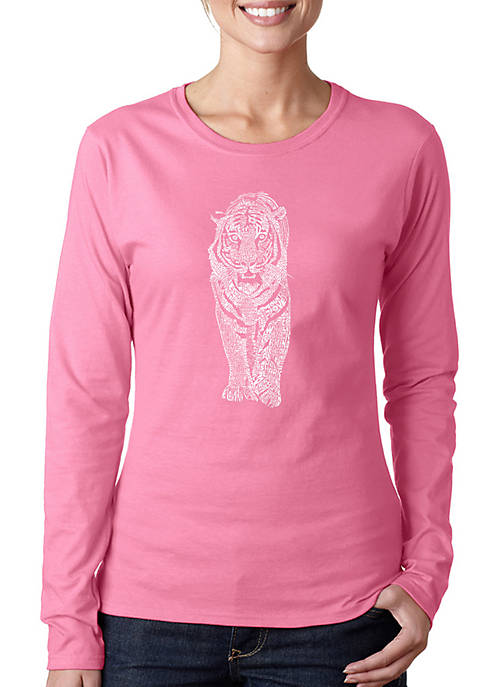 Word Art Long Sleeve T-Shirt - Tiger