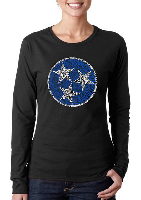 Womens Word Art Long Sleeve T-Shirt - Tennessee Tristar