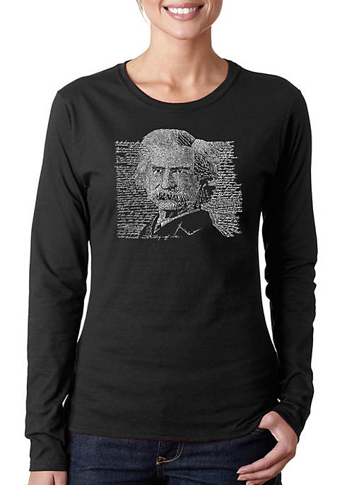 Word Art Long Sleeve T-Shirt - Mark Twain