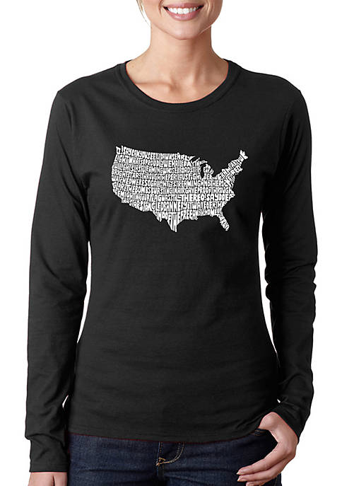 Word Art Long Sleeve T-Shirt - The Star Spangled Banner
