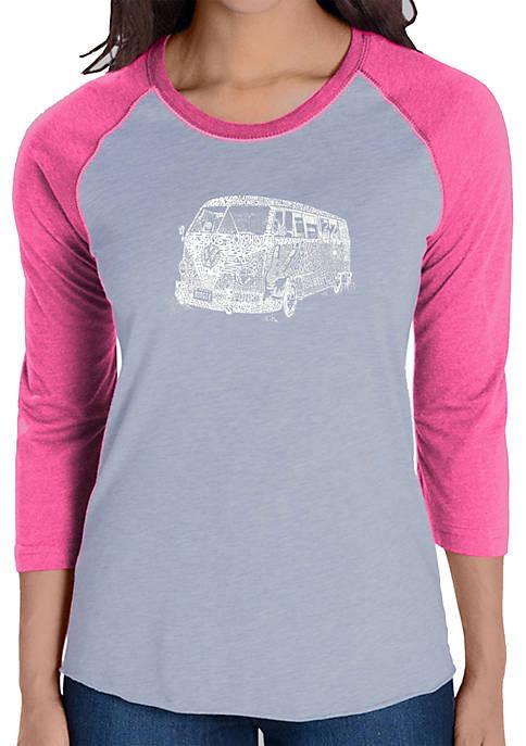 Raglan Baseball Word Art T-Shirt - The 70s
