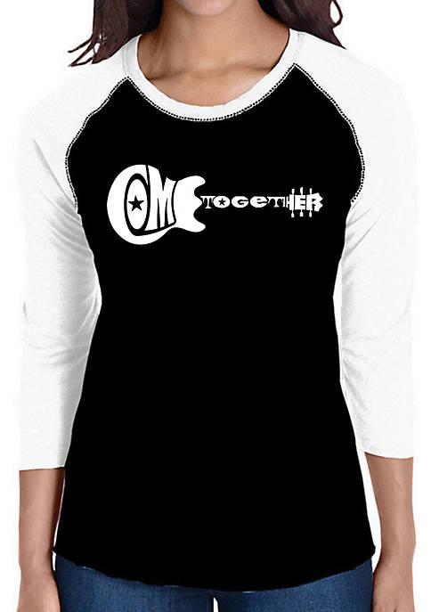 Raglan Baseball Word Art T-Shirt - Come Together