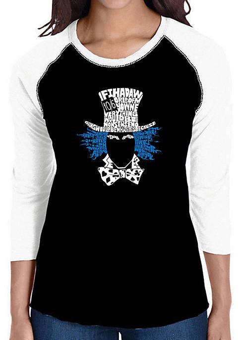 Raglan Baseball Word Art T-Shirt - The Mad Hatter