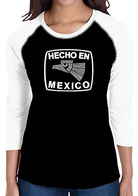 Raglan Baseball Word Art T-Shirt - Hecho En Mexico