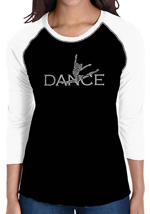 Raglan Baseball Word Art T-Shirt - Dancer