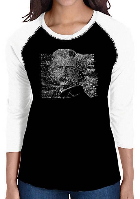 Raglan Baseball Word Art T-Shirt - Mark Twain