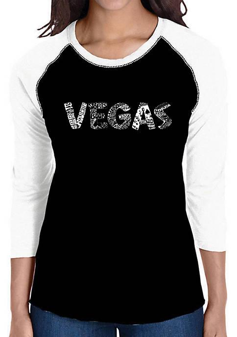 Raglan Baseball Word Art T-Shirt - Vegas