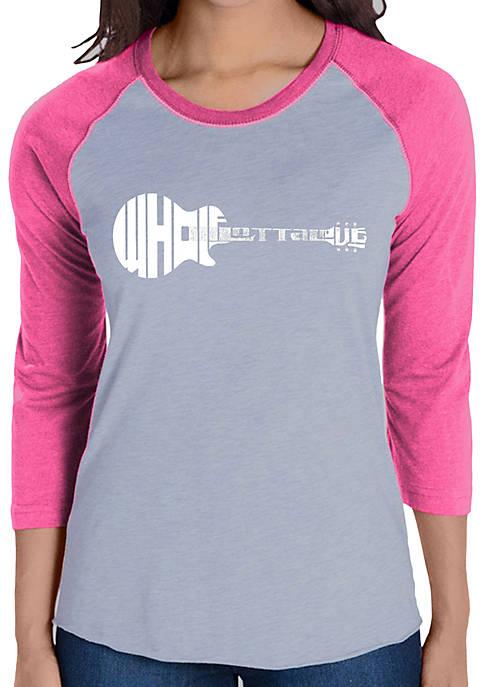 Raglan Baseball Word Art T-Shirt - Whole Lotta Love