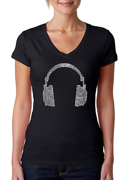 Word Art T Shirt - 63 Different Genres of Music