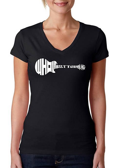 Word Art V-Neck T-Shirt - Whole Lotta Love