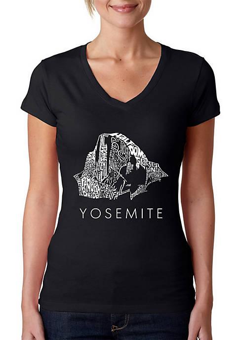Word Art V-Neck T-Shirt - Yosemite