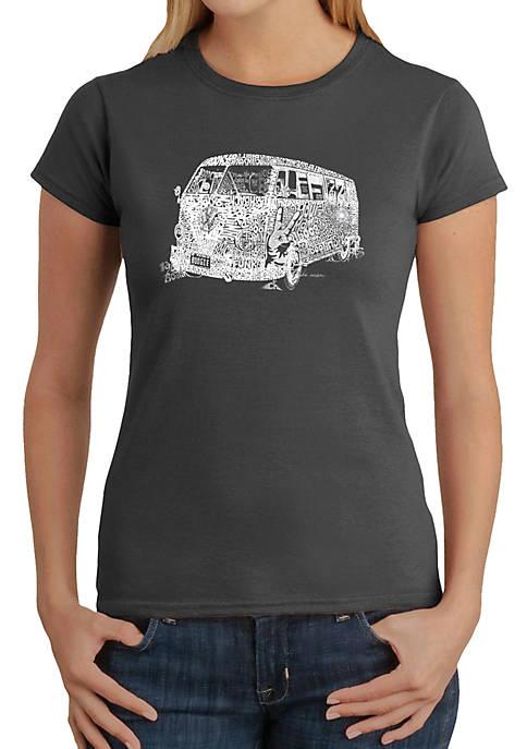 LA Pop Art Word Art T Shirt