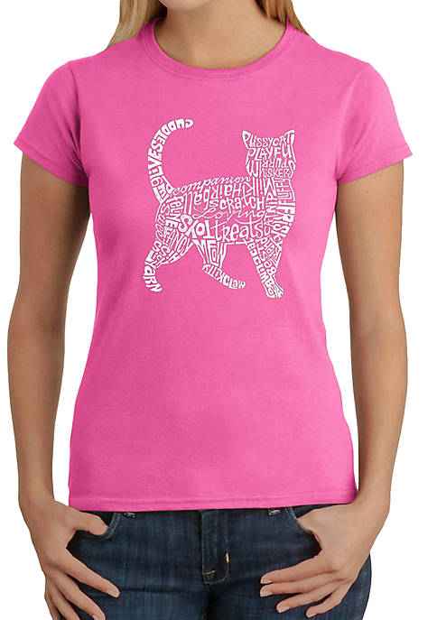 LA Pop Art Word Art T-Shirt- Cat
