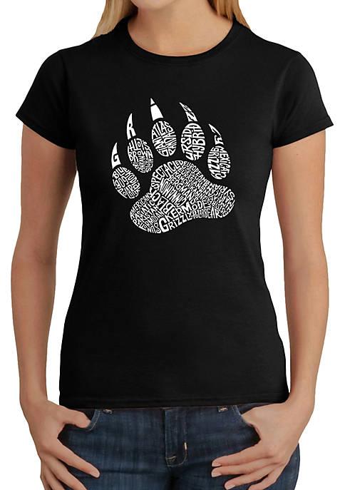Word Art T-Shirt - Types of Bears